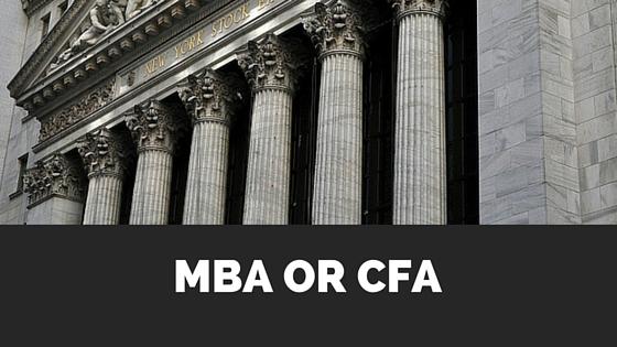 MBA vs CFA