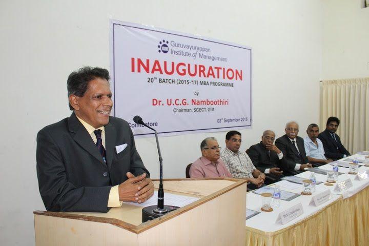 Guruvayurappan Institute Of Management (GIM) Coimbatore