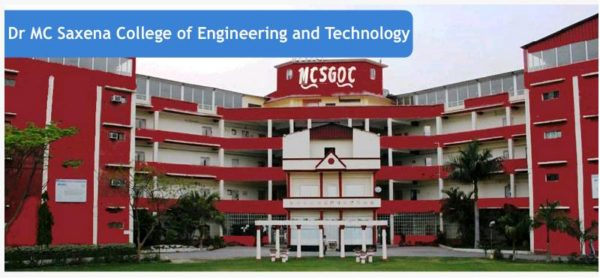 Dr. M.c. Saxena College Of Engineering & Technology (MCSGOC) Lucknow