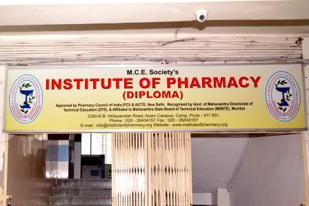 M.c.e. Societys Institute Of Pharmacy (diploma) Pune