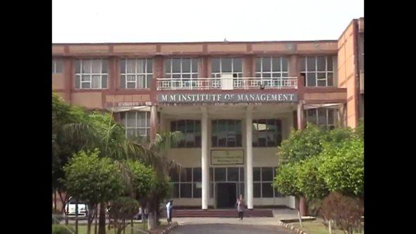 Mm Institute Of Management Ambala