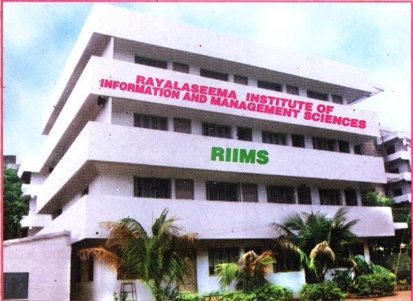 Rayalaseema Institute Of Information And Management Sciences (mba College) Chittoor