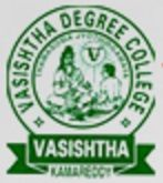 Vasistha Degree and PG College, Kamareddy logo