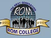 Rom College logo