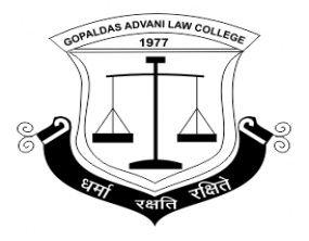 Gopaldas Jhamatmal Advani Law College Bandra logo
