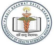 Pt Bhagwat Dayal Sharma University Of Health science logo