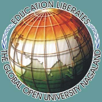 The Global Open University Nagaland logo