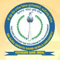 Sri Guru Granth Sahib World University logo