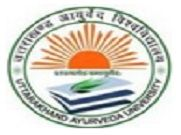 Uttarakhand Ayurved University logo