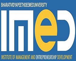 Bharati Vidyapeeth University, Institute of Management and Entrepreneurship Development logo