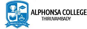 ALPHONSA COLLEGE THIRUVAMBADY logo