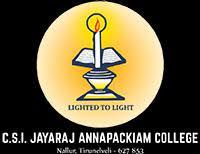 C.S.I. Jeyaraj Annapackiam College, Nallur - 627 853, Tirunelveli Dist . logo
