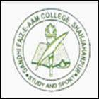 Gandhi Faiz-e-aam (PG) College logo