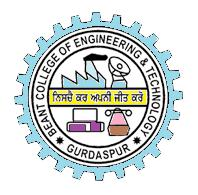 BEANT COLLEGE OF ENGINEERING & TECHNOLOGY,GURDASPUR logo