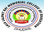 Lala Lajpat Rai Memorial College Of Education Dhudike logo