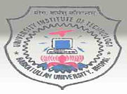 University Institute Of Technology Barkatullah University logo