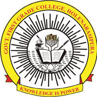 Government First Grade College, Holenarasipur logo