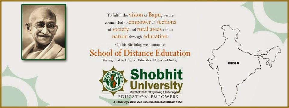 shobhit university distance education